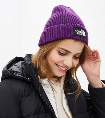The North Face Шапка с отворотом The North Face Logo Box Cuffed Beanie